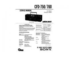 Sony CFD-760 modello di radio e lettore CD