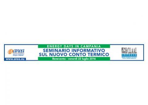 Seminario Tecnico Informativo sulle opportunità di finanziamento del Nuovo Conto Termico