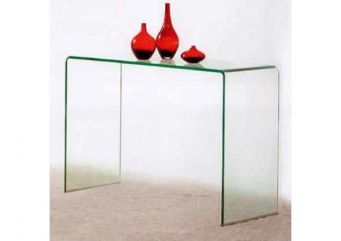 Consolle in vetro curvato