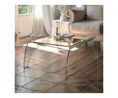 Tavolini in vetro curvato