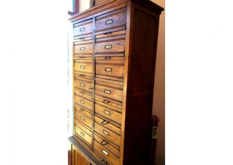 Vendo mobili in legno ad uso ufficio primi '900.